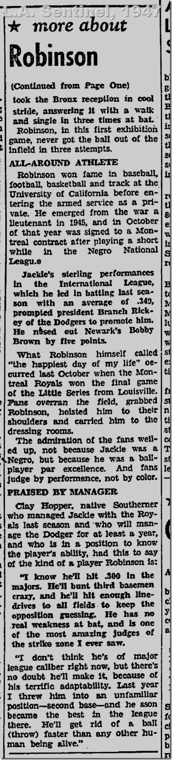 April 17, 1947, L.A. Sentinel