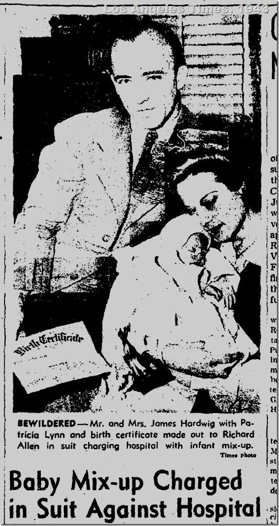 July 21, 1943, Baby Mixup