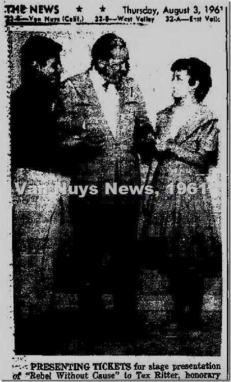 VN News 8-3-61 NH Playhouse Tex Ritter