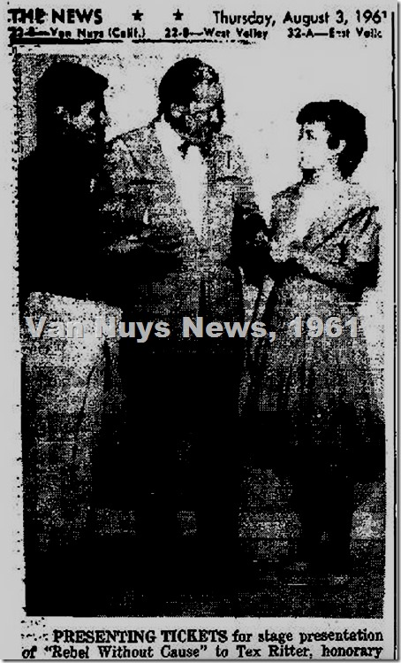 VN News 8-3-61 NH Playhouse Tex Ritter