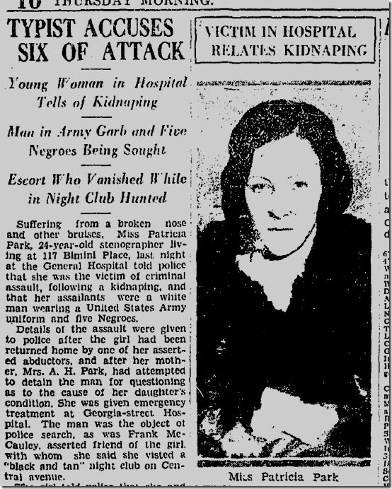 May 12, 1932, Patricia Park