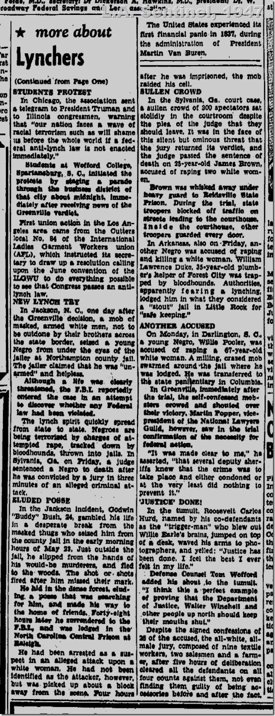 May 29, 1947, L.A. Sentinel