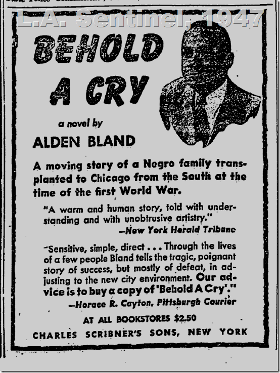 May 1, 1947, Behold a Cry