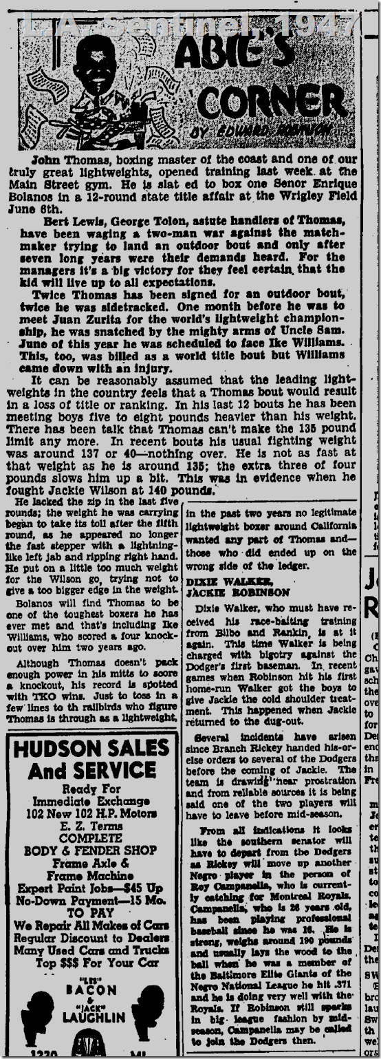 May 8, 1947, Abie's Corner