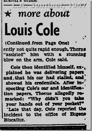 May 1, 1947, Police Brutality
