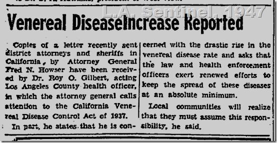 May 1, 1947, L.A. Sentinel