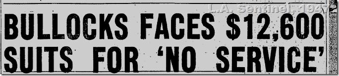 May 22, 1947, L.A. Sentinel