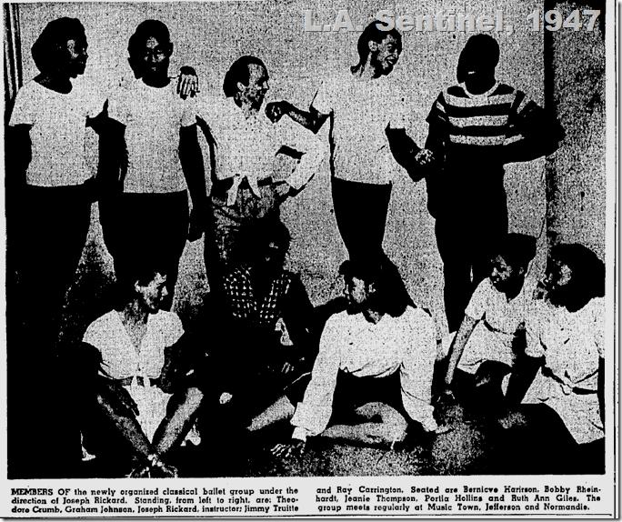 May 22, 1947, Black Ballet Company