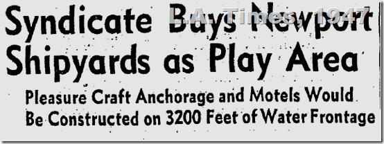 May 26, 1947, Newport Shipyards
