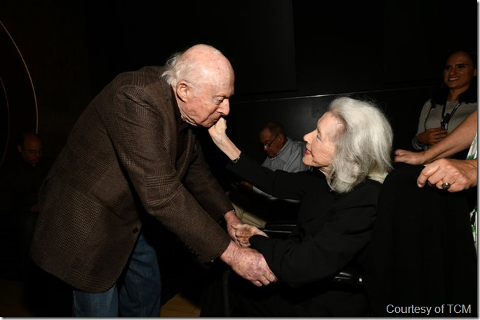 HOLLYWOOD, CA - APRIL 27: (L-R) Producer Norman Lloyd and actress Marsha Hunt attend Day 2 of the 2018 TCM Classic Film Festival on April 27, 2018 in Hollywood, California. 350620. (Photo by Emma McIntyre/Getty Images for TCM)