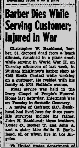 June 5, 1947, Barber dies
