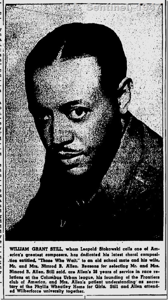 June 5, 1947, William Grant Still