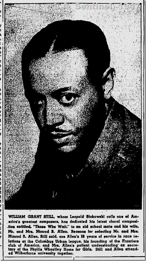June 5, 1947, William Grant Still