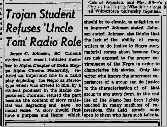 June 5, 1947, L.A. Sentinel