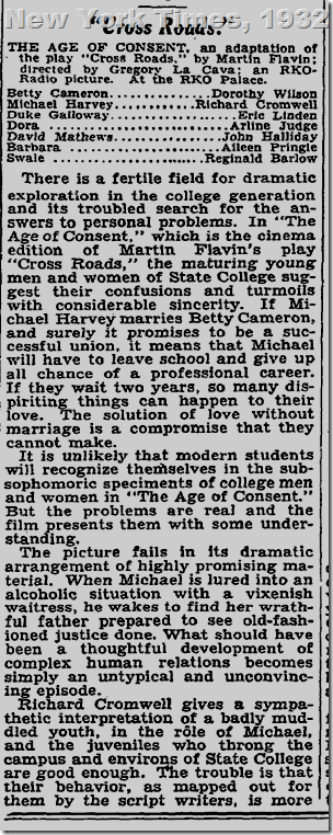 New York Times, 1932