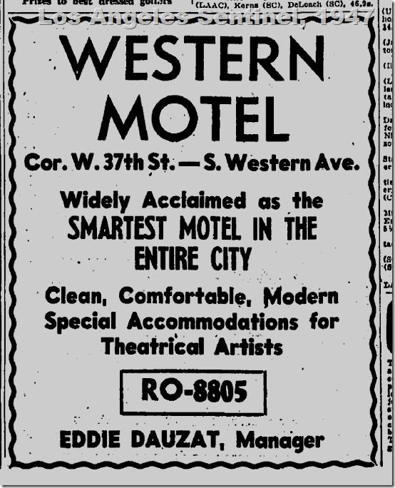 Western Model, 1947