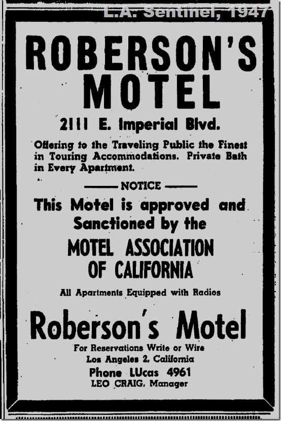 Roberson's Motel