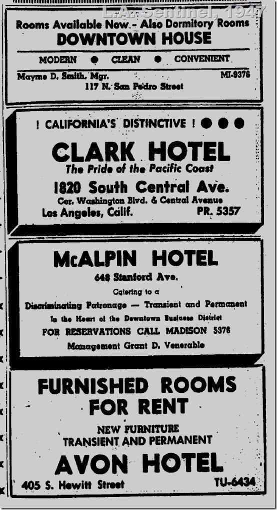 Hotels, 1947