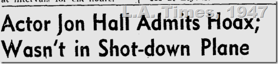 June 18, 1947, Jon Hall