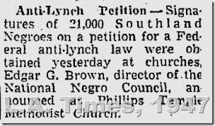 June 23, 1947, Anti-Lynching