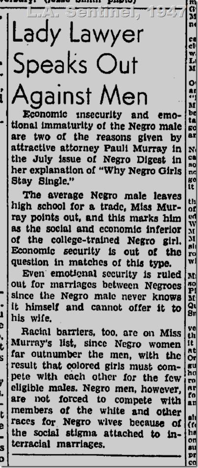 June 19, 1947, L.A. Sentinel