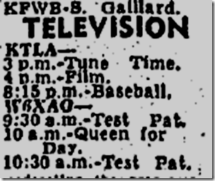 June 6, 1947, Television