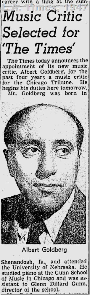 June 30, 1947, Albert Goldberg