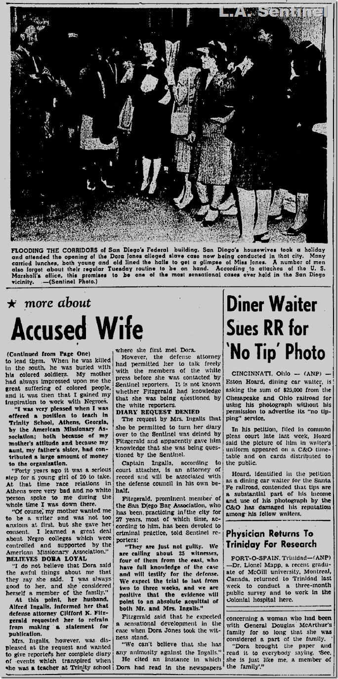 June 27, 1947, L.A. Sentinel