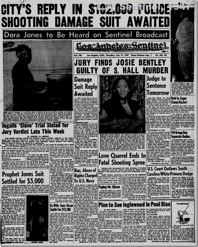 July 17, 1947, L.A. Sentinel