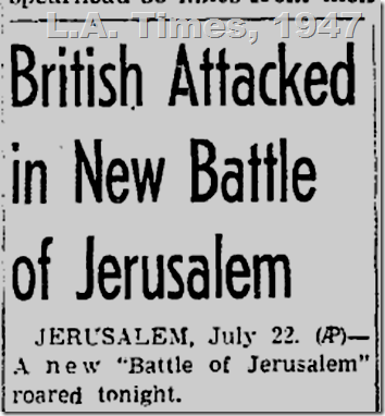 July 23, 1947, British Attacked
