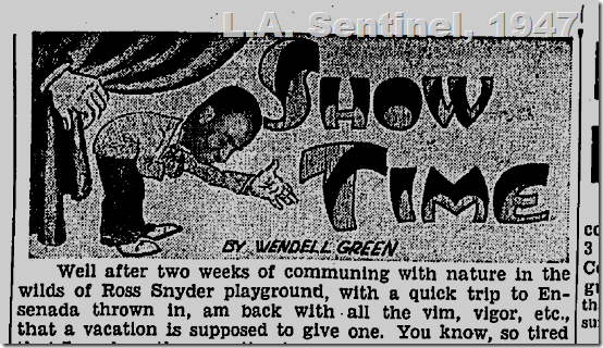 July 3, 1947, Los Angeles Sentinel, Crossfire