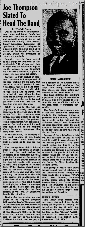 July 24, 1947, Jimmie Lunceford