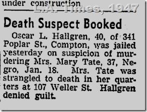 July 2, 1947, Oscar L. Hallgren