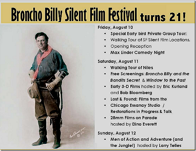 Broncho Billy Silent Film Festival
