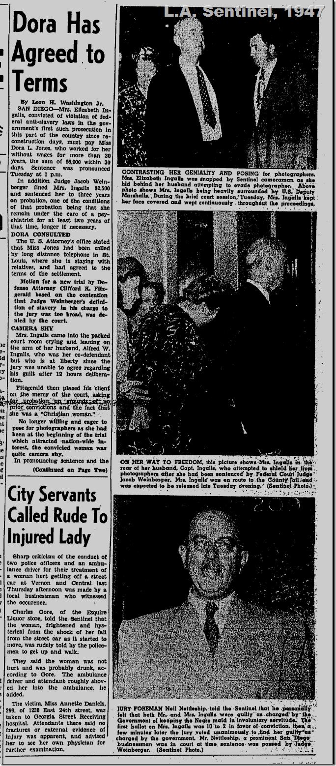 July 31, 1947, Elizabeth Ingalls