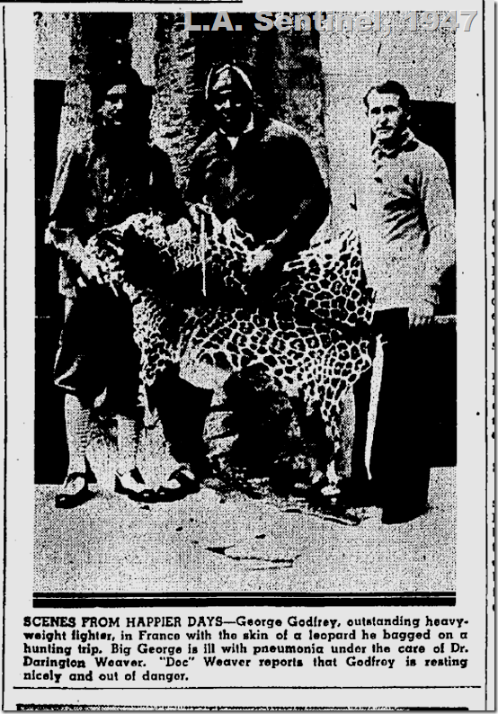 May 15, 1947, George Godfrey