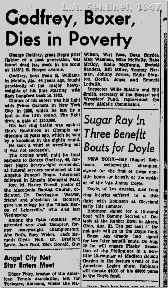 Aug. 21, 1947, George Godfrey
