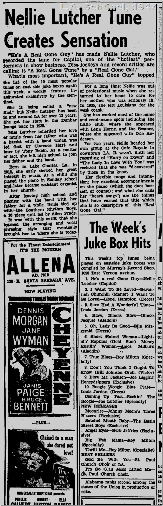 Aug. 21, 1947, Juke Box Hits