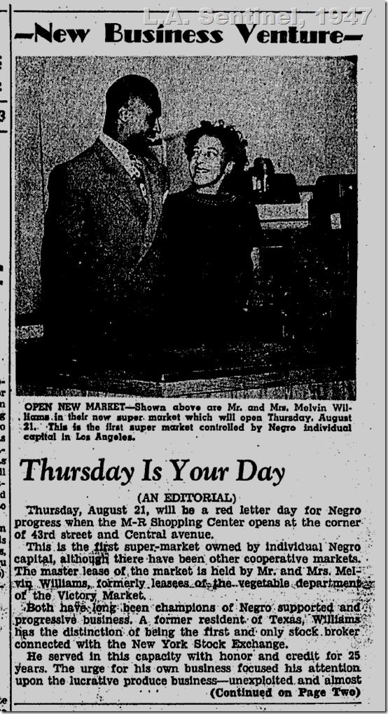 Aug. 21, 1947, M-R Market, Los Angeles Sentinel