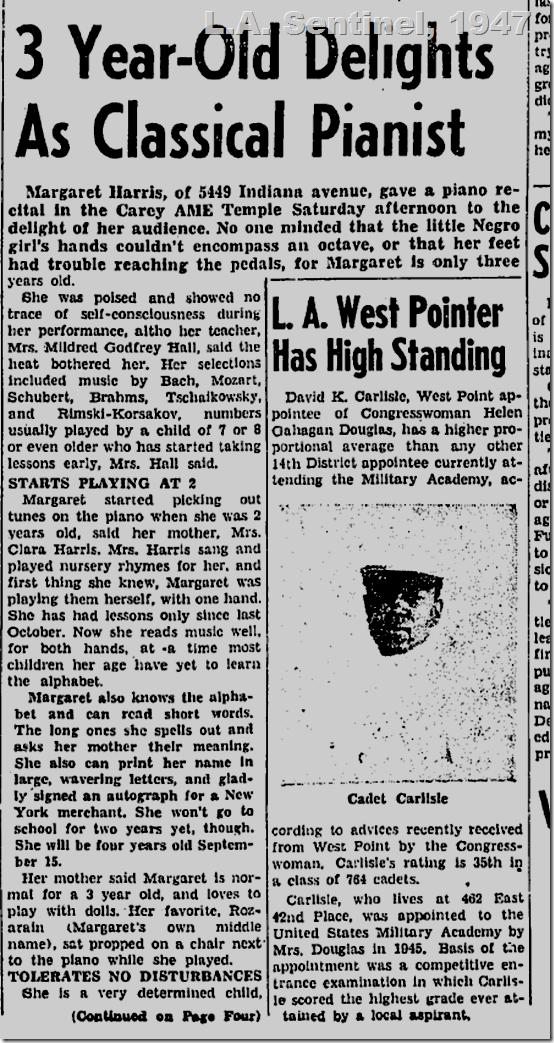 Aug. 28, 1947, L.A. Sentinel, Margaret Harris
