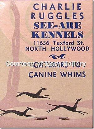Charlie Ruggles Kennels Matchbook