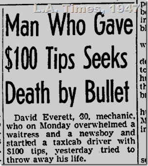 Sept. 10, 1947, Attempted Suicide