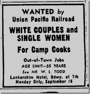 Sept. 14, 1947, White Couples Wanted