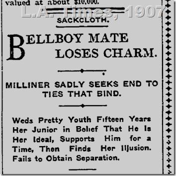 L.A. Times, 1907, No Divorce