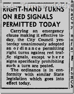Sept. 19, 1947, Right Turns