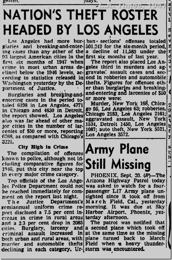 Sept. 21, 1947, L.A. Crimes
