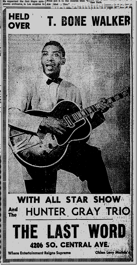 Sept. 18, 1947, T. Bone Walker