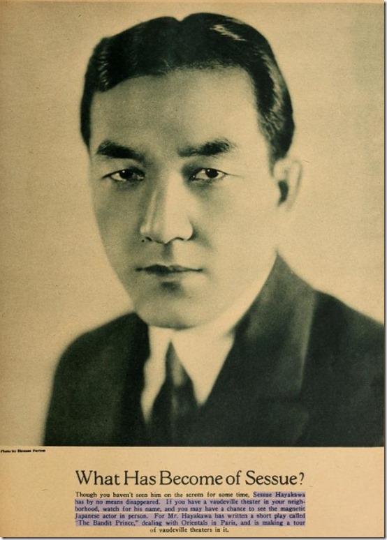 Sessue Hayakawa Picture Play 1927