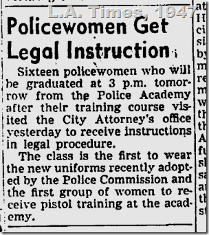 Policewomen Get Legal Instruction