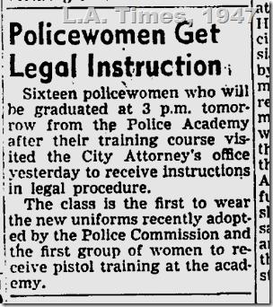 Policewomen Get Legal Instruction